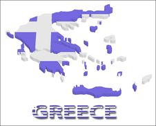 Free Greece Territory With Flag Texture. Stock Photos - 15034333