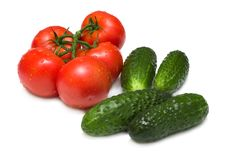 Free Ripe Tomatoes And Cucumbers Stock Photos - 15034453