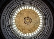 US Capitol Rotunda Ceiling Royalty Free Stock Photography