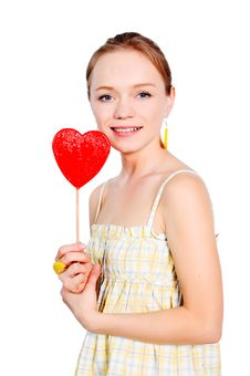 Free Girl With Lollipop Stock Photos - 15034743