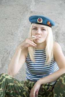 Free The Woman On A Smoke Break Stock Images - 15034874