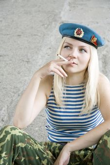 Free The Woman On A Smoke Break Stock Photos - 15034923