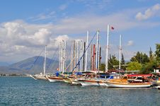 Free Yachts In Port. Turkey. Stock Photo - 15035630