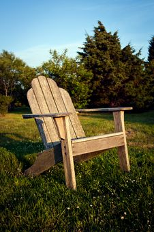 Free Chair At Sunset` Royalty Free Stock Photos - 15035858