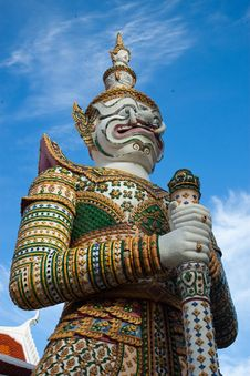 Free Thai Antique Giant Royalty Free Stock Photography - 15035977