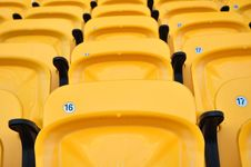 Free Yellow Seat In Arena Royalty Free Stock Image - 15036076