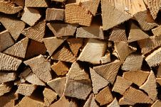 Free Stacked Firewood Royalty Free Stock Image - 15036096