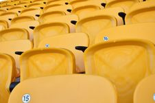 Free Row Yellow Seat In Arena Stock Image - 15036181
