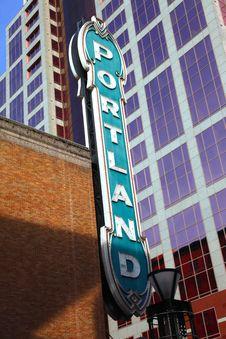 Free Portland Sign. Royalty Free Stock Photos - 15036308