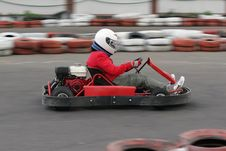 Free Go Cart Race Royalty Free Stock Photo - 15036545