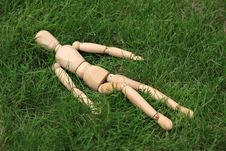Free Puppet Lie On Lawn Royalty Free Stock Photos - 15036758