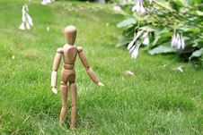 Free Puppet Walks On Lawn Stock Photos - 15036793