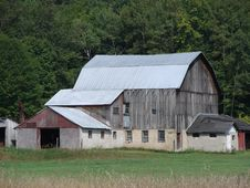 Old Barn With Stone Foundation Royalty Free Stock Image