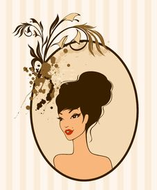 Beautiful Pin-up Girl In Retro Style Royalty Free Stock Photography