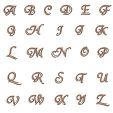 Brown Double Letters Royalty Free Stock Images