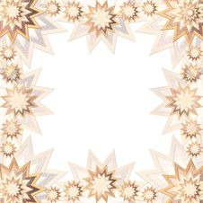 Free Stary Frame Brown And Gold Royalty Free Stock Image - 15037106