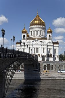 BRIDGE TO CATHEDRAL OF CHRIST THE SAVIOR Stock Photography