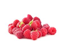 Free Fresh Ripe Raspberries Isolated On White Royalty Free Stock Images - 15037409