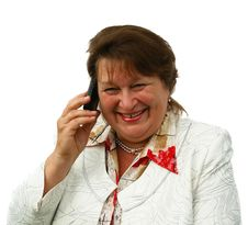 Business Woman Calling By Phone Royalty Free Stock Photo