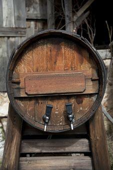 Wine Barrel Stock Image
