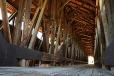 Free Light At The End Of The Covered Bridge Stock Images - 15037724