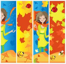 Free Autumn Banners Stock Image - 15037731
