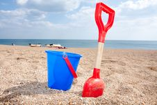 Free Bucket And Spade Royalty Free Stock Photography - 15038087
