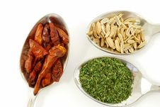 Parsley, Paprika And Fennel Seeds Stock Image