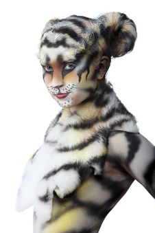 Free White Tigress Royalty Free Stock Image - 15038826