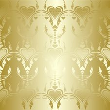 Free Golden Hearts Pattern Stock Photos - 15039173
