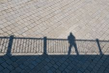 Free Diagonal Shadow Of A Railing Royalty Free Stock Photo - 15039895
