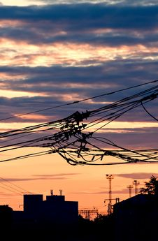 Free Bunch Of Electric Wires Stock Image - 15039911