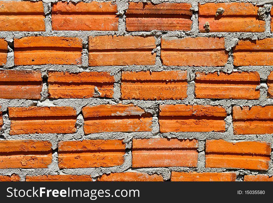 Brick at Wall Building