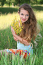 Free Girl On The Nature Royalty Free Stock Image - 15049676