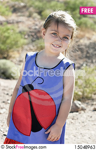 Free Portrait Of A Girl In The Desert Stock Photos - 15048963
