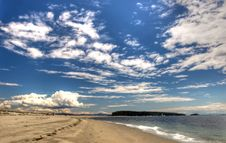 Free Sandy Beach Against A Sky Royalty Free Stock Image - 15040166