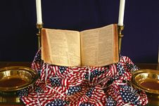 Free Patriotic Church Display Stock Photo - 15040320