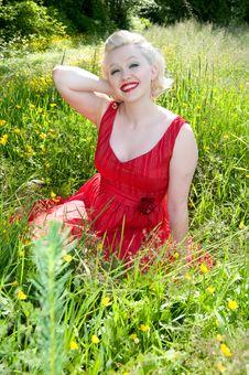 Free Beautiful Woman In Pasture Stock Photos - 15040443