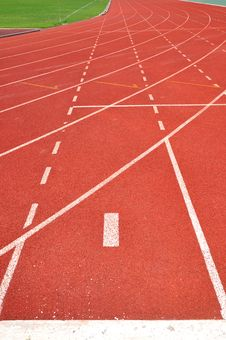 Free Runner Track Royalty Free Stock Images - 15040709
