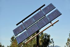 Renewable Solar Power Energy Panel Stock Image