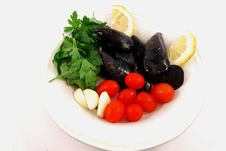 Free A Plate Of Mussels Stock Images - 15041404