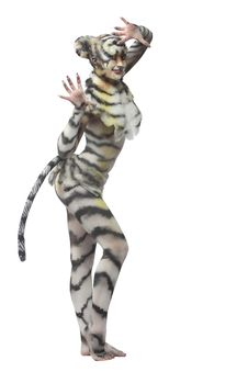 Free White Tigress Stock Photography - 15041992