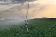 Irrigation Sprinklers Royalty Free Stock Photos
