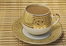 Free Coffee With Milk In A Cup Royalty Free Stock Images - 15042179