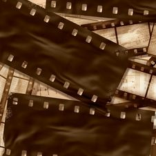 Free Vintage Filmstrips Background Royalty Free Stock Photography - 15042297