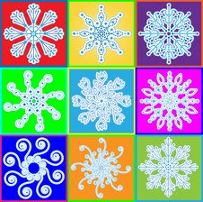 Free Snowflake Set Stock Photo - 15042510