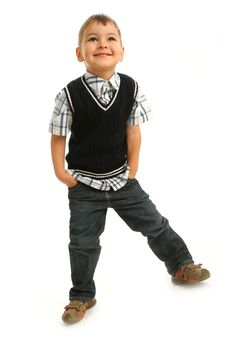 Little Naughty Boy Royalty Free Stock Photo