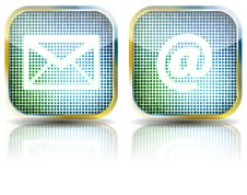Free Icon E-mail Glossy Button,  Illustration Stock Photography - 15044832