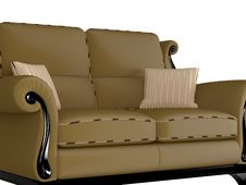 Free Classic Brown Sofa Royalty Free Stock Photography - 15044967