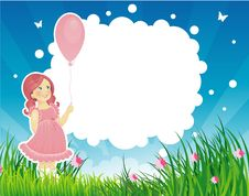Free Summer Backgraund With Little Girl Royalty Free Stock Photo - 15045495